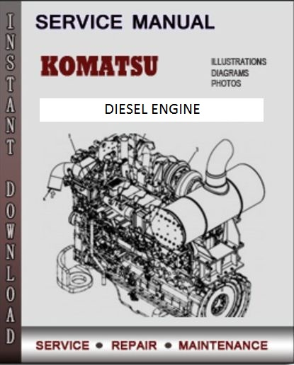 Komatsu SA6D110-1 Diesel Engine Service Manual Download - Komatsu Service  Manual Online Download